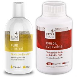 Emu Oil Bundle Pure Emu Oil 250ml Emu Oil 250 Capsules